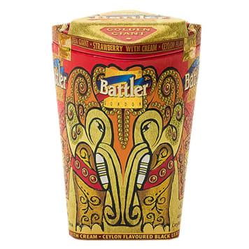 BATTLER Herbata czarna liściasta z aromatem truskawki i śmietanki 100g