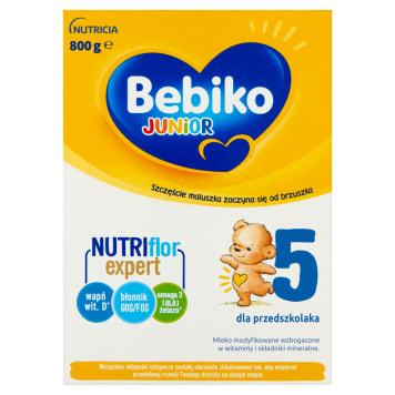 Bebiko - Mleko Junior 5 NutriFlor+. Z myślą o potrzebach małych dzieci i o ich zdrową dietę.