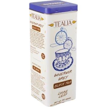TEALIA Herbata czarna cejlońska o smaku bergamotki (puszka) 100g