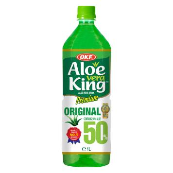 OKF Aloe vera King Premium Napój aloesowy z cząstkami aloesu 1l