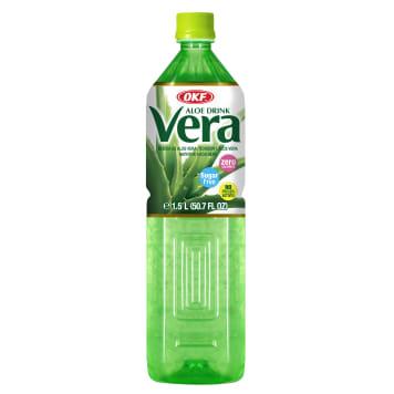 OKF Aloe Drink Vera Napój aloesowy z cząstkami aloesu bez cukru 1.5l