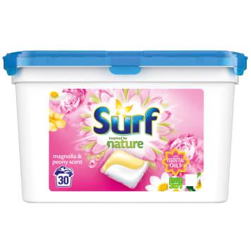 SURF Duokap Kapsułki do prania 2 w 1 piwonia i magnolia 30 szt 723g