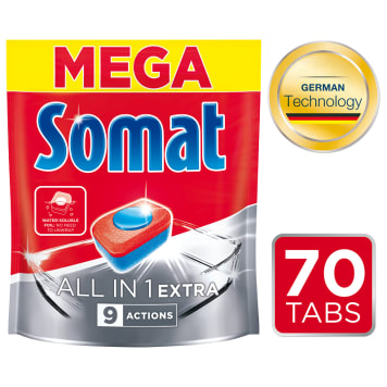 SOMAT All in 1 EXTRA Tabletki do zmywarki 70 szt. 1.274 kg
