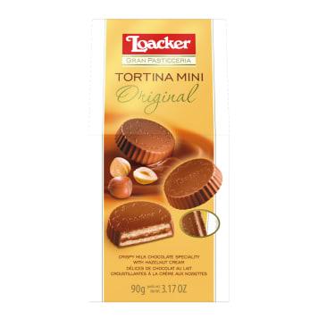 LOACKER Gran Pasticceria Tortina mini w czekoladzie mlecznej 90g