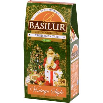 BASILUR Christmas Tree Herbata zielona liścista aromatyzowana 85g