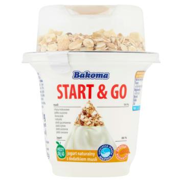 BAKOMA START & GO Jogurt naturalny z dodatkiem musli 210g