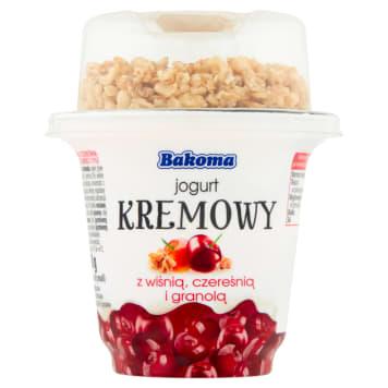 BAKOMA Jogurt kremowy z wiśnią czereśnią i granolą 230g