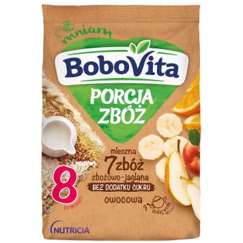 Kaszka mleczna Porcja Zbóż - Bobovita wzbogacona jest witaminami.