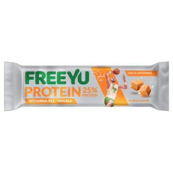 FREEYU PROTEIN Baton białkowy karmel solony z inuliną 40g