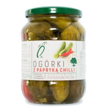 Ogórki konserwowe z papryką chilli - Orzeł Polska nadają daniom prawdziwej pikanterii.