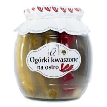 Ogórki kwaszone na ostro - Orzeł Polska posiadają wiele możliwości zastosowania.