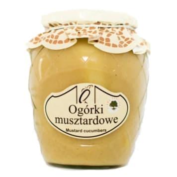 Ogórki musztardowe BIO - Orzeł Polski doskonały dodatek do sałatek i kanapek.