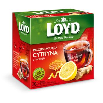 LOYD TEA Rozgrzewająca Herbata owocowa o smaku imbiru cytryny i miodu 20 torebek 40g