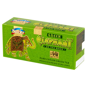 BATTLER GREEN ELEPHANT Herbata zielona cejlońska 25 torebek 50g