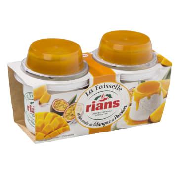 RIANS Twarożek faisselle Rians z mango i marakują 2x120g 240g