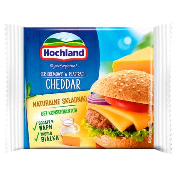 HOCHLAND Ser kremowy w plastrach Cheddar 130g
