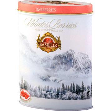 BASILUR Barberries Herbata czarna liścista aromatyzowana (puszka) 100g
