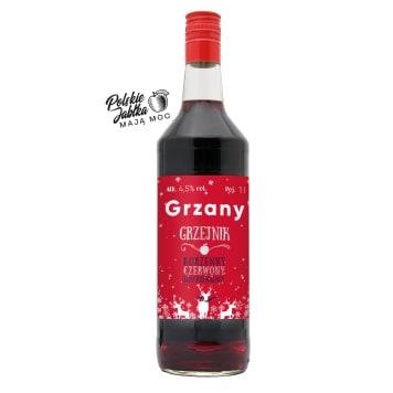 GRZEJNIK Aromatyzowane wino owocowe, niskoalkoholowe, czerwone, słodkie 1l