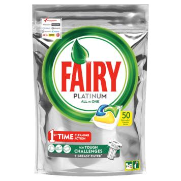 FAIRY PLATINIUM All in One Kapsułki do zmywarki cytrynowe 50 szt 1szt