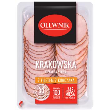 OLEWNIK Kiełbasa krakowska sucha z filtem z kurczaka 90g