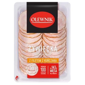 OLEWNIK Kiełbasa żywiecka sucha z filetem z kurczaka 90g