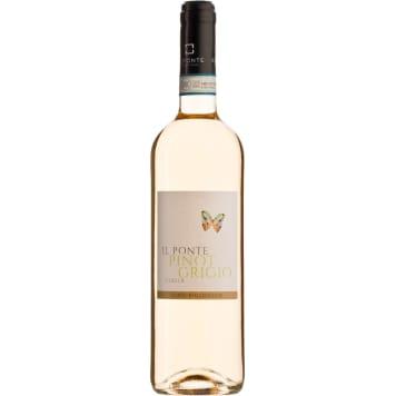 Wino białe wytrawne Pinot Grigio - Il Ponte. Eleganckie i świeże wino z lekko egzotyczną nutą.