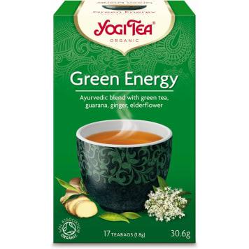 Herbata zielona Energia, 17 torebek, 30 g - Yogi Tea. Na bazie ekologicznych składników.