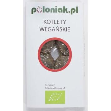 Kotlety wegańskie BIO - Poloniak. Pełnowartościowy posiłek, który syci i wybornie smakuje.