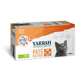 YARRAH Pokarm dla kota Multipack BIO (8x100g) 800g