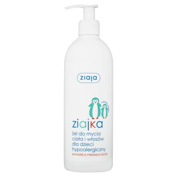 ZIAJA ziajka Żel do mycia ciała i włosów dla dzieci hypoalergiczny 400ml