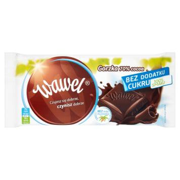 WAWEL Czekolada Gorzka 70% Cocoa bez dodatku cukru 100g