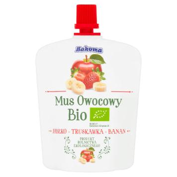 BAKOMA Mus owocowy jabłko-truskawka-banan BIO 90g