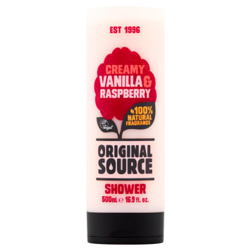 ORIGINAL SOURCE Żel pod prysznic Vanilla & Raspberry 500ml