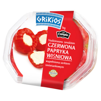 Czerwona słodka papryka nadziewana serem - Campio