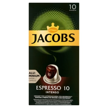 JACOBS Espresso Intenso Kawa mielona w kapsułkach 10 kapsułek 52g