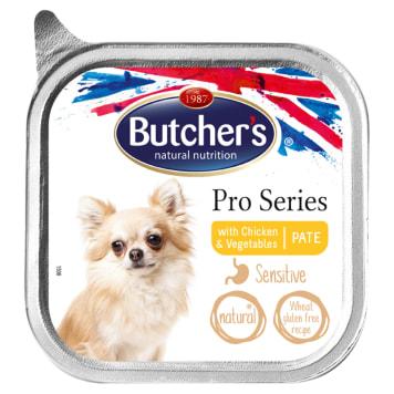 BUTCHER'S PRO SERIES Karma dla dorosłych psów pasztet z kurczakiem i warzywami 100g