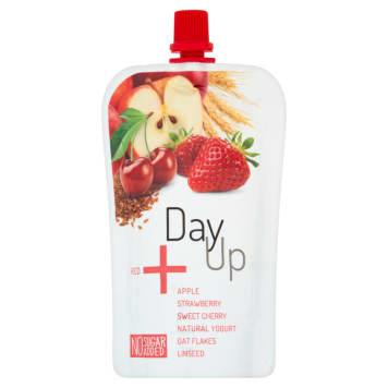 DAYUP RED Puree jabłkowe z jogurtem nat. truskawką czereśnią i płatkami 120g