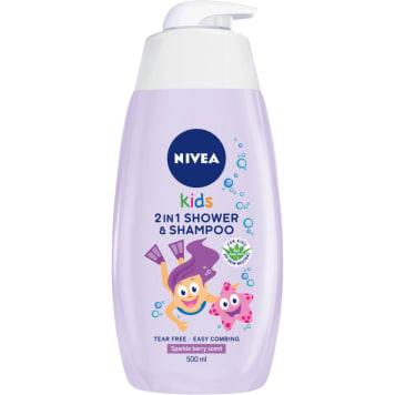 NIVEA Kids Żel do mycia ciała 2w1 o zapachu owocowych żelków 500ml