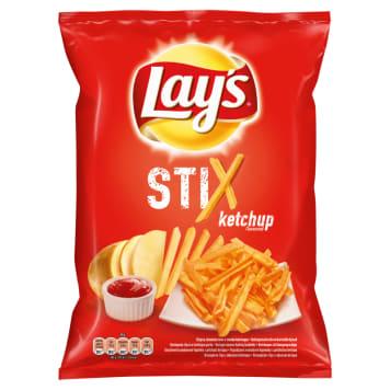 Chipsy Ketchupowe - Lays. Niezwykłe chipsy ziemniaczane przypominające cieniutkie frytki.