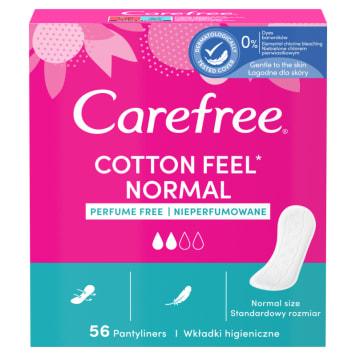 CAREFREE Cotton Wkładki higieniczne bezzapachowe 56 szt 1szt