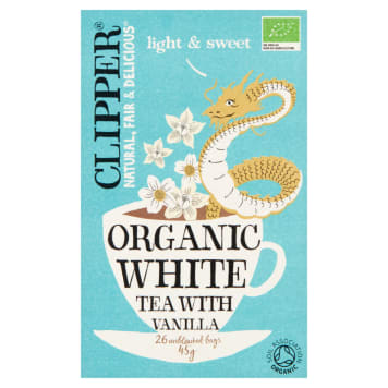 CLIPPER Herbata biała waniliowa BIO 26 torebek 45g