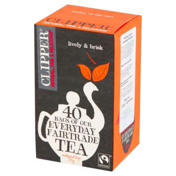 CLIPPER Herbata czarna BIO 40 torebek 125g