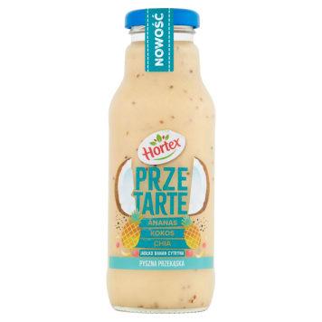 HORTEX Przetarte Premium smoothie ananas banan jabłko kokos cytryna chia 300ml