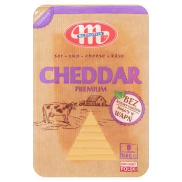 Ser Cheddar w plastrach - Mlekovita to gwarancja pysznego smaku.