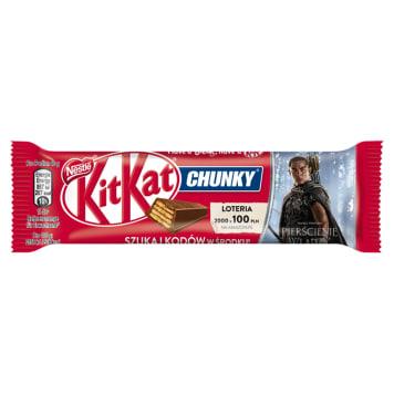 Baton Chunky - Nestle Kit Kat. Chrupiąca przekąska skąpana w mlecznej czekoladzie.
