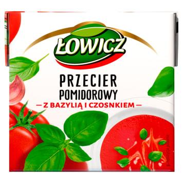 ŁOWICZ Pzecier pomidorowy z bazylią i czosnkiem 500g