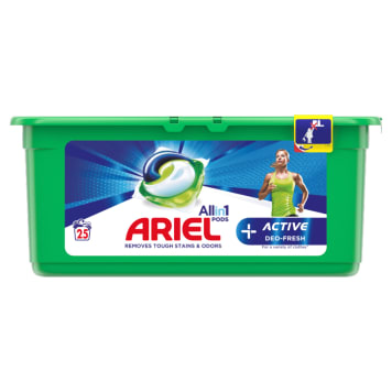 ARIEL Active Deo Fresh Kapsułki do prania 25 szt 1 ml
