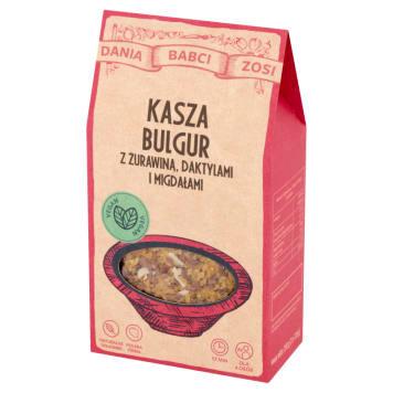 DANIA BABCI ZOSI Kasza bulgur z żurawiną, daktylami i migdałami 250g