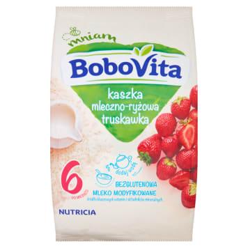 BOBOVITA Kaszka mleczno-ryżowa o smaku truskawkowym - po 6 miesiącu 230g