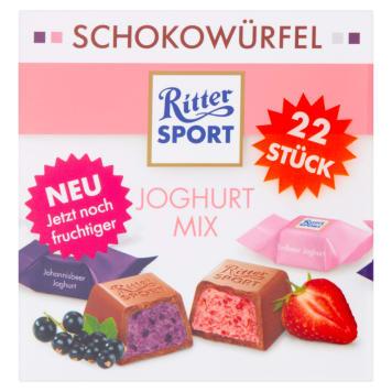 Czekoladaki jogurtowe 175g - Ritter Sport. Czekoladki jogurtowe dla amatorów owocowej lekkości.